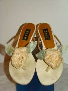 ZALO Flower Womens Thong Sandals Shoes Size 9.5M