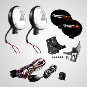 Ridge Black Windshield Light Kit. 1997 2006 Jeep Wrangler TJ