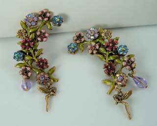 Kirks Folly Jezebel Flower Fairy earrings