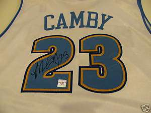 Marcus Camby Signed Denver Nuggets Authentic Jersey
