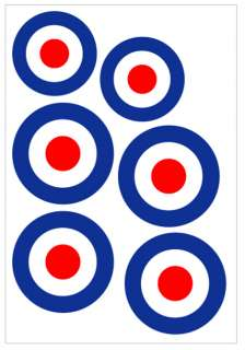 RAF Roundel Stickers / RC Plane Decal Stickers ROYAL AIR FORCE (CM 031