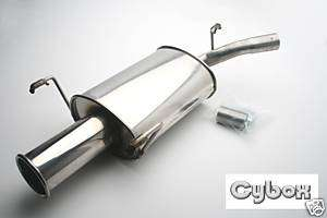 NEW VAUXHALL CORSA B STAINLESS STEEL EXHAUST / BACK BOX