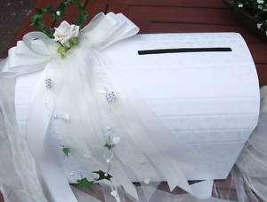 Briefbox Hochzeit Tischdeko Geldgeschenke Herz creme