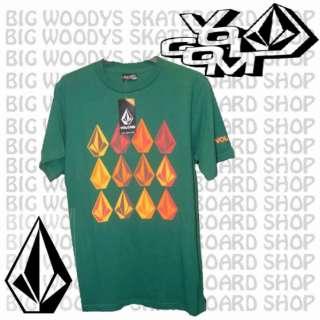 Volcom 12 Pack Mens Tee Shirt Green Stone