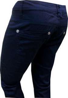 cotone elastico, modello 5 tasche, colore BLU, vestibilità SLIM