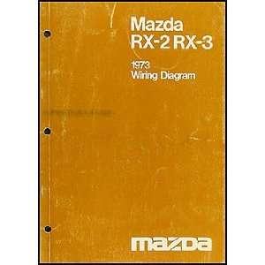 1973 Mazda RX 2 and RX 3 Original Wiring Diagram: Mazda