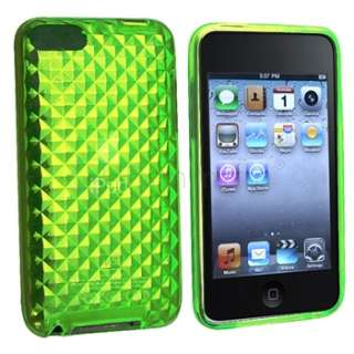 Crystal Clear GREEN Diamond TPU Hard Soft Case for iPod Touch 2nd 2G
