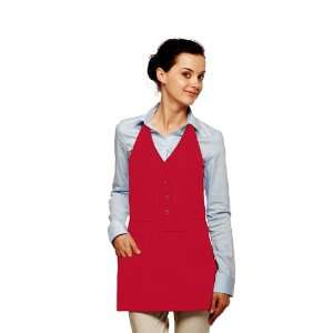 DayStar 332 Vest Apron w/Pockets   Red   Embroidery