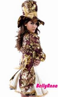 Mad Hatter Alice In Wonderland Halloween Cosplay Costume Fancy Dress