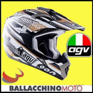 CASCO MOTO CROSS ENDURO M AGV MT X MULTI TP 06 ORO HELMET OFF ROAD