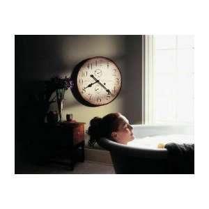 Howard miller 25 wall clock antique dial duel hour movement 620315