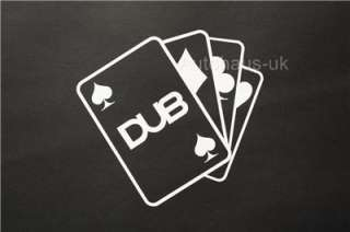 Ace of DUBs decal. DUB sticker vw golf polo bora lupo