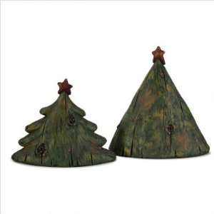 IMAX 58775 2 2 Piece Large Wide Christmas Tree Set with Red Star in