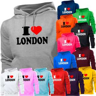 LOVE LONDON CITY HOODIE HOODY MENS WOMEN BOYS GIRLS KIDS TOWN