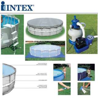Piscina intex ultra frame tonda 549x132 54956 intex con pompa sabbia