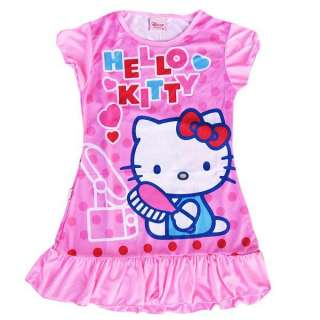 Hellokitty Nightwear lassocks night dress girl nightgown kids bathing