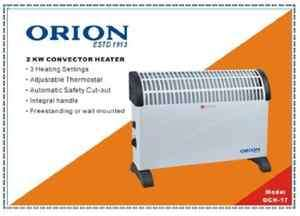 2KW Orion Convector Heater Electric Wall Mounting Free Standing with