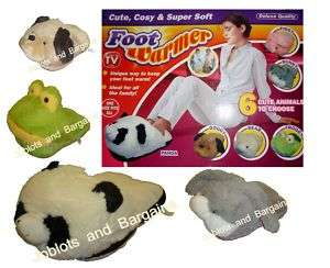 DELUXE SUPER SOFT ANIMAL FOOT WARMER CUTE COSY ONE SIZE