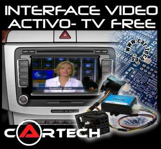 INTERFACE DE VIDEO ACTIVO (TV FREE) PARA NAVEGADORES RNS510, RNS E