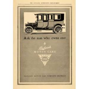 1910 Ad 1911 Model Packard Automobile Motor Car Company