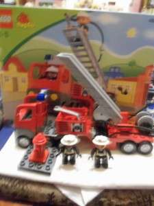 Lego Duplo Fire Engine Set 4681   Boxed   Loads.