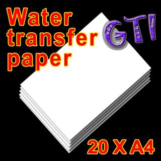 20 A4 INKJET LIGHT WATER TRANSFER PAPER CUP DECAL CRAFT