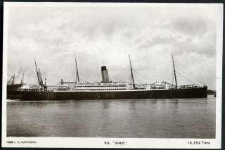 IONIC (1903 36) White Star Line. C.R.Hoffmann postcard No.1008. 1924