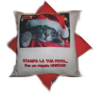 Cuscino con la tua foto/file personalizzato pillow 40cm
