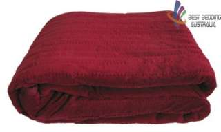 Electric Heated Throw Rug/Snuggle Blanket  Burgundy