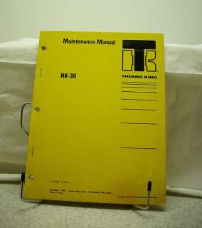 Thermo King HK30 Engine Heating Unit Maintenance Manual