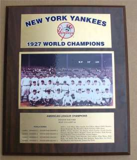 Yankees 1927 World Series Champions Plaque ! Babe Ruth & Lou Gehrig