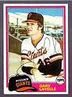 GEORGE MARTIN AUTOGRAPH SIGNED 1981 TOPPS GIANTS
