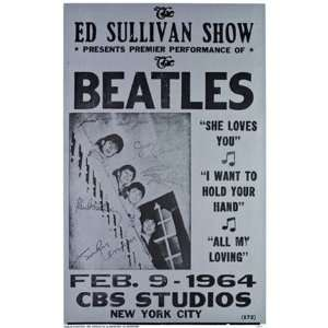 The Beatles   Ed Sullivan Show MasterPoster Print, 11x17: