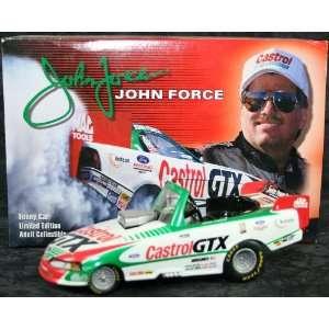 John Force Diecast Castrol GTX 1/24 1999 Bank Toys