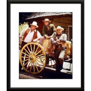 Bonanza Framed And Matted 8x10 Color Photo (Lorne Greene Michael