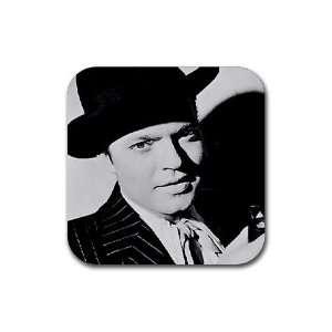 Citizen Kane Orson Welles Rubber Square Coaster set (4 pack) Great