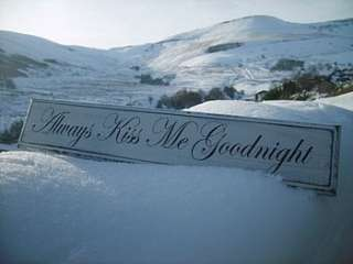 always kiss me goodnight vintage wood sign by maggi wood art signs