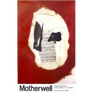 Galeria Joan Prats 1986 by Robert Motherwell, 22x30
