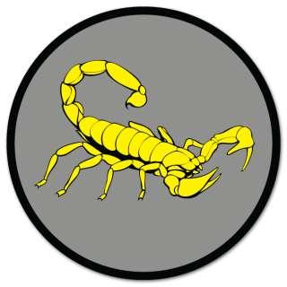 Yellow Scorpion car styling auto moto sticker 4 x 4