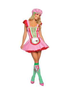 Sexy Strawberry Girl Adult Costume  Sexy Plus Size Halloween Costumes