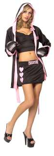 Boxer Babe Costume   Sexy Adult Costumes