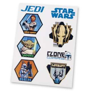 Star Wars The Clone Wars Tattoos (2 sheets)   Costumes, 50983
