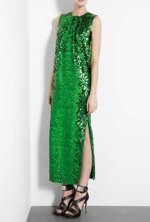 By Malene Birger  Emerald Green Amukaji Sequin Maxi Dress by By
