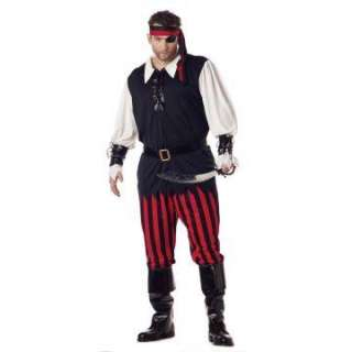 Cutthroat Pirate Plus Adult Costume   Includes a Black shirt with