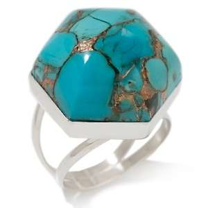 Jay King Sleeping Beauty Turquoise and Metal Matrix Sterling Silver
