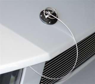 Mustang Black Powdercoated Billet Aluminum Hood Pin Pins Kit