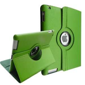 Smart Cover PU Leather Case with Green Lining for Apple iPad 2 (2rd