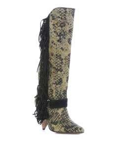 Fringed snake print boots  Isabel Marant