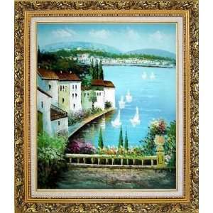 Ornate Antique Dark Gold Wood Frame 30 x 26 inches