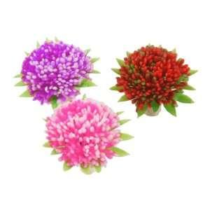 Como Fish Tank Artificial Red Pink Purple Round Flower